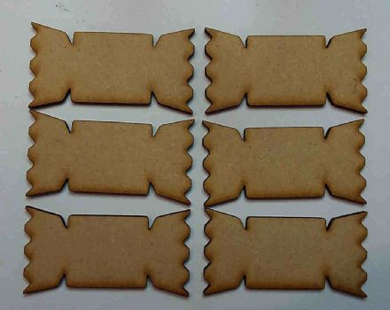 Wooden mdf XMAS CRACKER craft shapes tags tree decor 6 PACK 3mm Thick